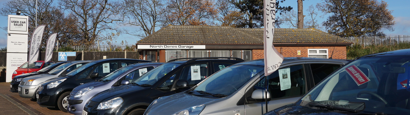 Used cars for sale at North Denes Garage
